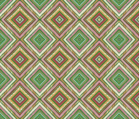 Diamond Dandy Xmas  fabric by tallulahdahling on Spoonflower - custom fabric