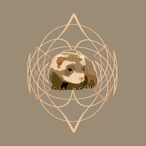 Ferret fabric by featheralchemist on Spoonflower - custom fabric