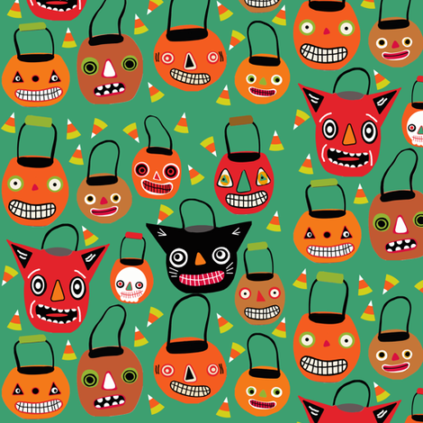 Trick Or Treat fabric by heidikenney on Spoonflower - custom fabric