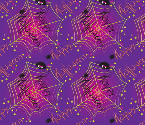 LaraGeorgine_Happy-Halloween fabric by larageorgine on Spoonflower - custom fabric