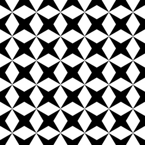 black X and Diamonds Tesselation