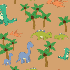 Dinosaurs in the Wild XLarge Scale