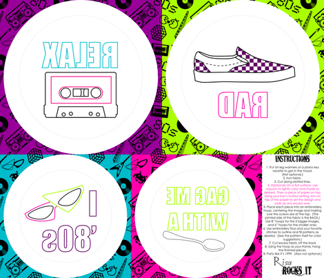 80s embroidery to the max fabric by risarocksit on Spoonflower - custom fabric