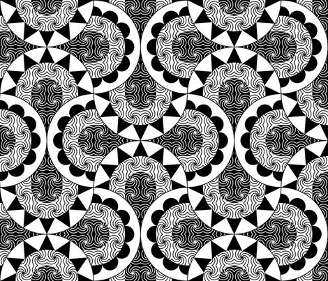 art deco fronts - warm and cold fabric by sef on Spoonflower - custom fabric