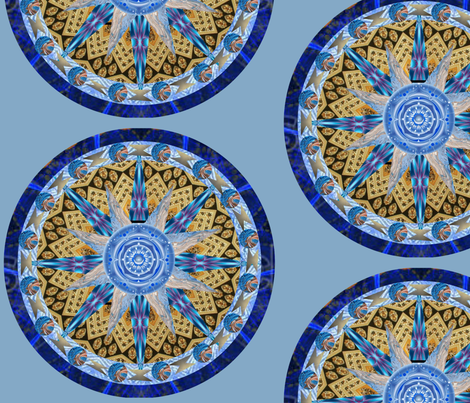 BlueGold1 fabric by woodsdesigns on Spoonflower - custom fabric