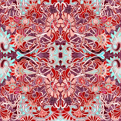Tangled Garden  fabric by edsel2084 on Spoonflower - custom fabric