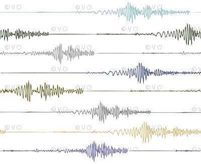 Earthquake! Seismograph in Earth Tones