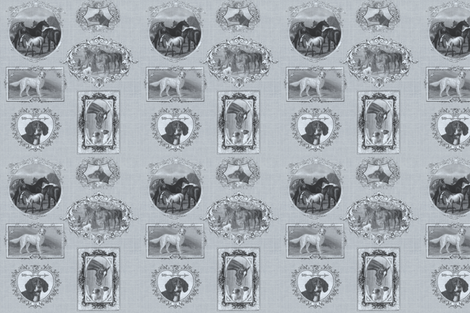 dogshorse_framed fabric by ragan on Spoonflower - custom fabric