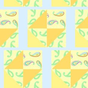 pastel paisleys blue quilt 2