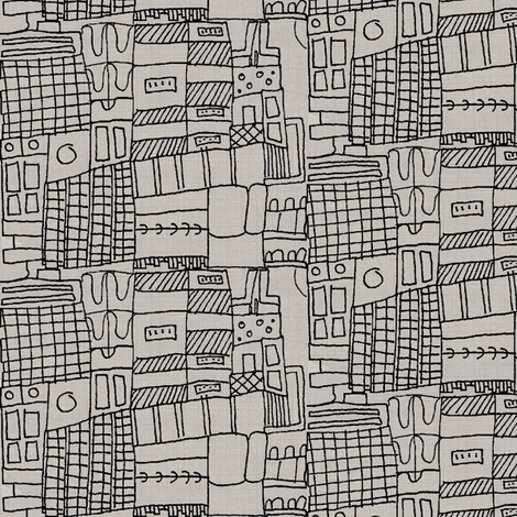 Paperbag City fabric by boris_thumbkin on Spoonflower - custom fabric