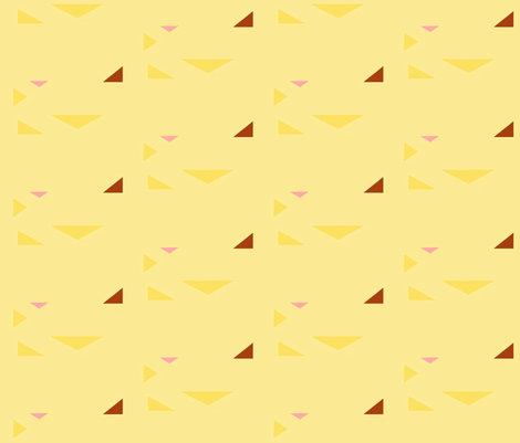 triangles yellow 2 fabric by mojiarts on Spoonflower - custom fabric
