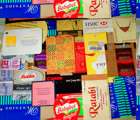 collage fabric by rachana on Spoonflower - custom fabric