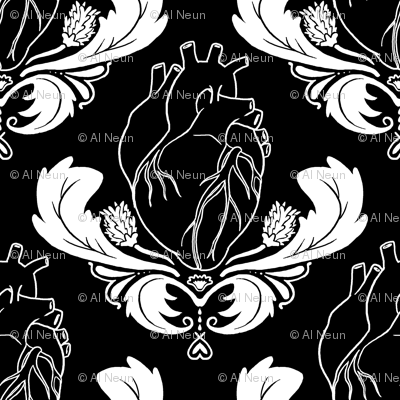 Hearts & Thistles Black/White