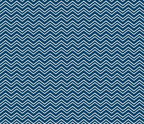 chevron no2 navy blue fabric by misstiina on Spoonflower - custom fabric