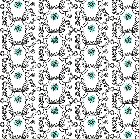 Green Flower fabric by boris_thumbkin on Spoonflower - custom fabric