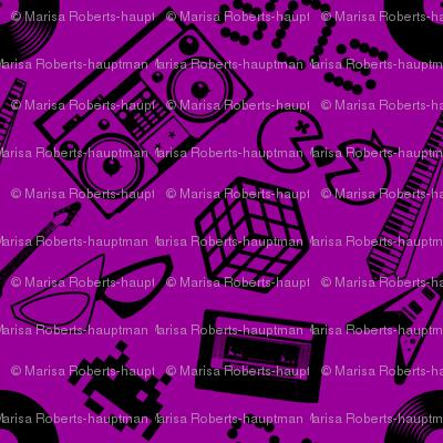 80s Icons on purple