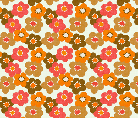 Flower Power fabric by littlerhodydesign on Spoonflower - custom fabric