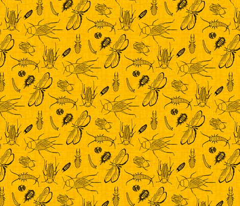 They creep me out - small - golden pumpkin fabric by victorialasher on Spoonflower - custom fabric