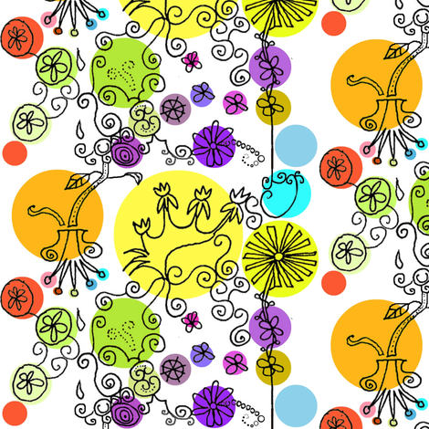 Summer Floral fabric by boris_thumbkin on Spoonflower - custom fabric