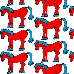 Small Red & Blue Horsie