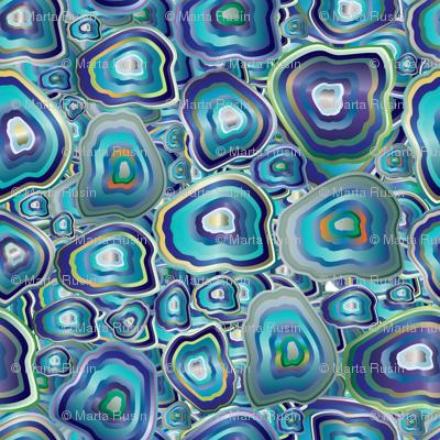 agate mosaic blue