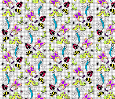 Creepy Crawlin' Cuties fabric by risarocksit on Spoonflower - custom fabric