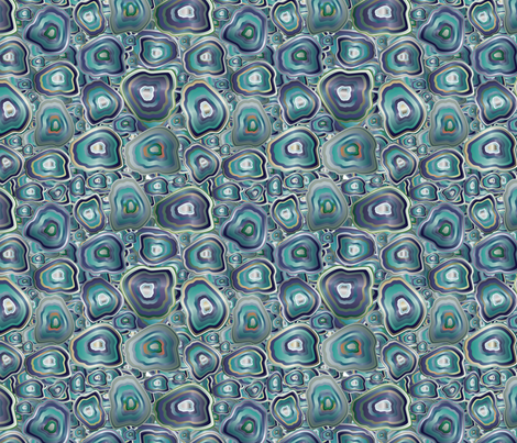 agate mosaic fabric by kociara on Spoonflower - custom fabric