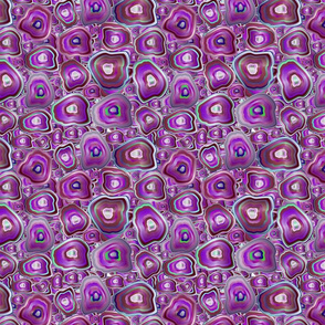 agate mosaic in purple