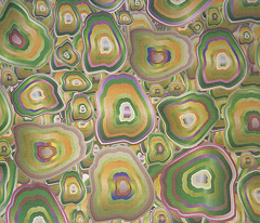 agate mosaic in yellow