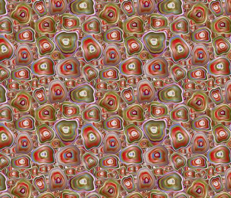 agate mosaic in red fabric by kociara on Spoonflower - custom fabric