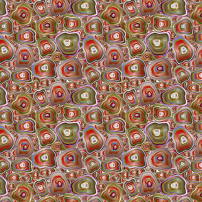 agate mosaic in red