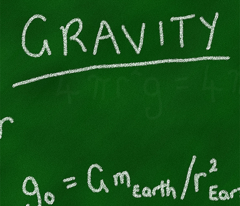 Gravity Lesson - Chalk on Chalkboard!