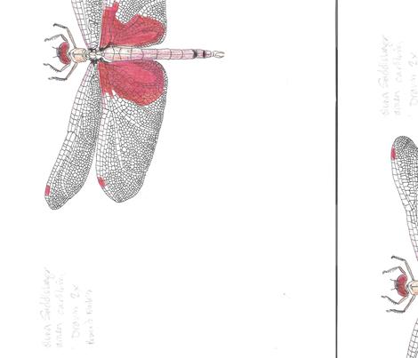 Carolina_saddlebags dragonfly fabric by *margaret* on Spoonflower - custom fabric