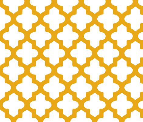 Moroccan Honey Gold fabric by fridabarlow on Spoonflower - custom fabric