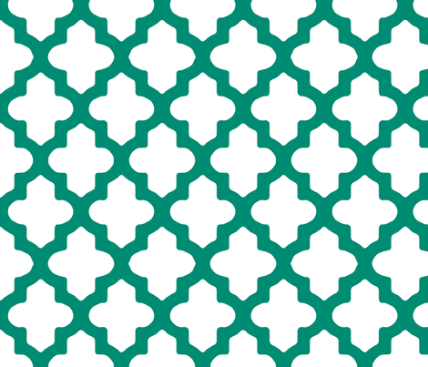 Moroccan_Emerald Green or Teal fabric by pearl&phire on Spoonflower - custom fabric