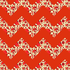 poppy red chevron