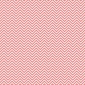 chevron pinstripes coral