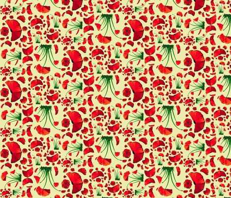 poppy ditsy 2 fabric by mojiarts on Spoonflower - custom fabric