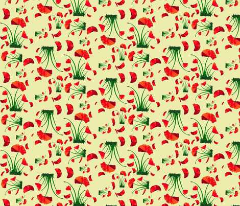 poppies fabric by mojiarts on Spoonflower - custom fabric