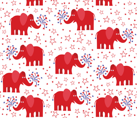 Republican_Elephant fabric by bzbdesigner on Spoonflower - custom fabric
