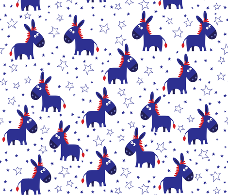 Democrat_Donkey fabric by bzbdesigner on Spoonflower - custom fabric