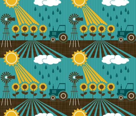 Kansas: the science of agriculture fabric by run_quiltgirl_run on Spoonflower - custom fabric