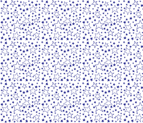 Blue Stars fabric by bzbdesigner on Spoonflower - custom fabric