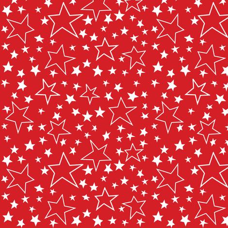 Voting Stars Over Red fabric by bethany@bzbdesigner_com on Spoonflower - custom fabric