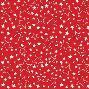 Voting Stars Over Red