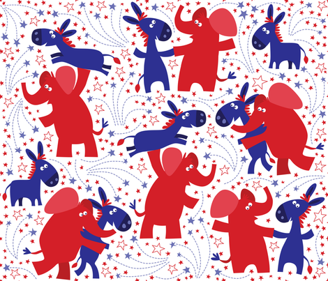 Dancing with the stars 3 fabric by bzbdesigner on Spoonflower - custom fabric