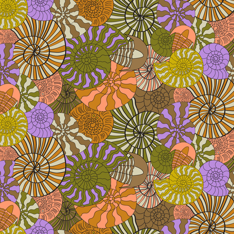 Abundant Fossils fabric by mag-o on Spoonflower - custom fabric
