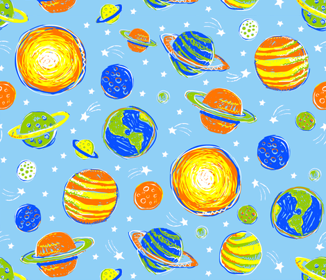 WHAT PLANET ARE YOU FROM? fabric by bzbdesigner on Spoonflower - custom fabric