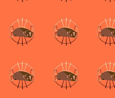 Hippopotamus fabric by featheralchemist on Spoonflower - custom fabric