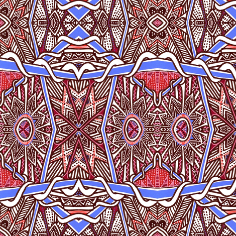 The Beat of Tribal Drums fabric by edsel2084 on Spoonflower - custom fabric
